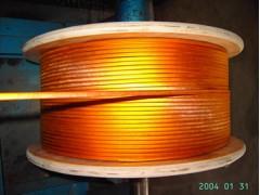 供应自粘双玻璃丝亚胺包扁铜线 ed-05m