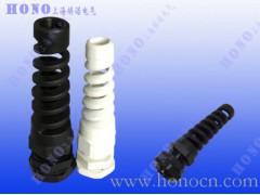 防折弯电缆接头 带弹簧格兰头 防弯折填料函防折弯尼龙电缆接头